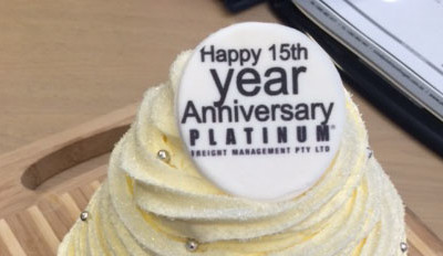 Platinum Freight® celebrates 15 years and 100% client growth year on year
